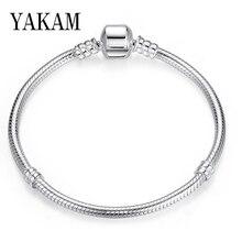 Базовый браслет на цепочке в виде змеи, браслет Pandora, подарки для девочек, Sieraden для женщин, ювелирные изделия, модные браслеты Mary, аксессуары