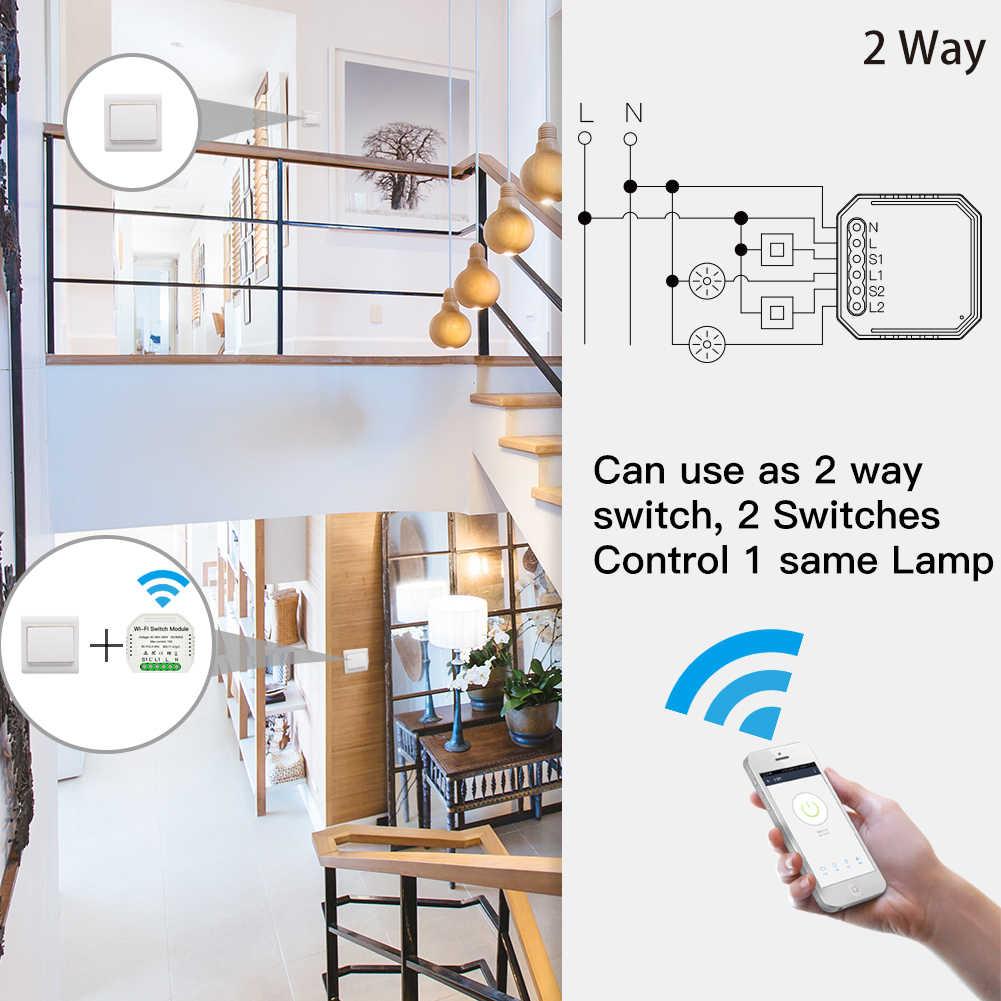 2 способа DiY WiFi смарт-светильник релейный модуль умный дом умная жизнь/Tuya приложение дистанционное управление работа с Alexa Echo Google Home