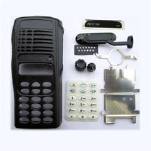 5SetsX Alloggiamento Anteriore Custodia Per Motorola PRO7150 Colore Nero Parti di Riparazione