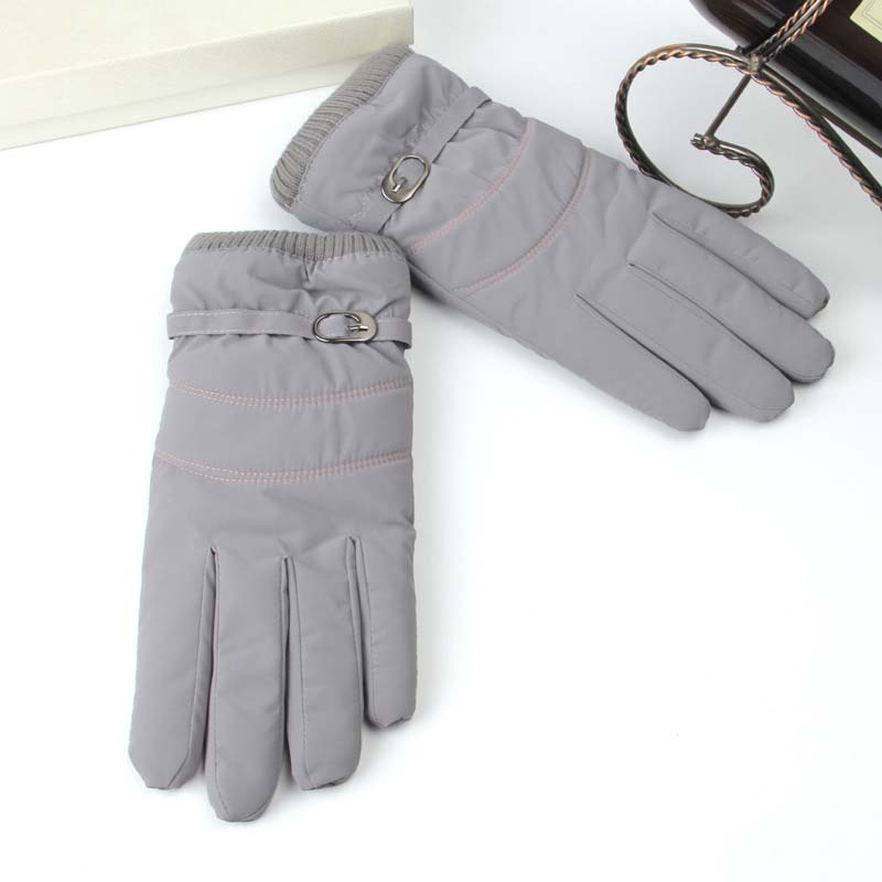 Winter Ladies Gloves Outdoor Windproof Cold Warm Touch Screen Plus Velvet Thick Gloves