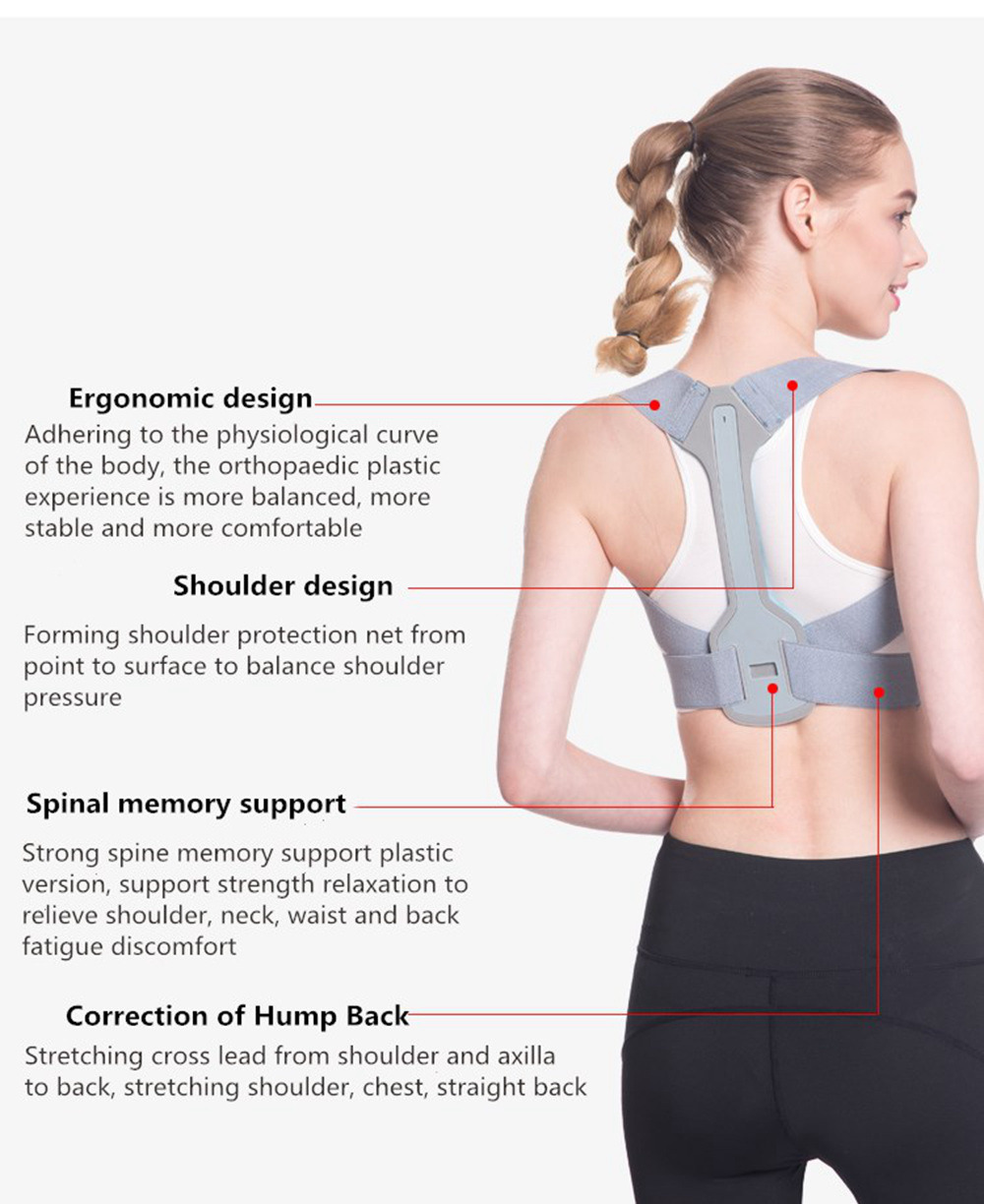 Adjustable Posture Corrector Belt for Clavicle and Spine Support Helps to Relief Back Pain Suitable for Unisex 12