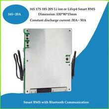 16S 17S 18S 19S 20S חכם Bluetooth APP BMS עבור 48V 60V Lifepo4 סוללה או 60V 72V Li יון EV סוללה