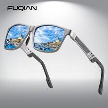 Мужские солнцезащитные очки с поляризацией в алюминиево магниевой