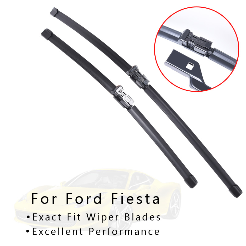 Winshield Wipers Blade For Cars for <font><b>Ford</b></font> <font><b>Fiesta</b></font> from 2002 <font><b>2003</b></font> 2004 2005 2006-2017 windscreen wiper car <font><b>Accessories</b></font> wholesale image