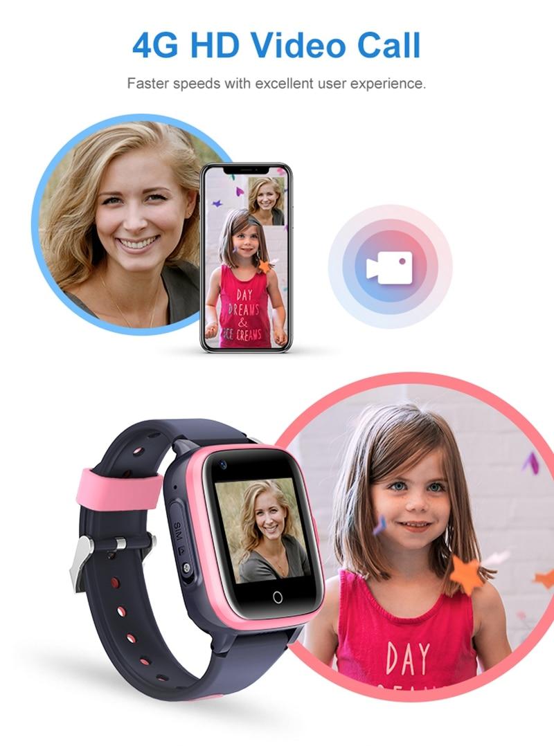 Intelligens órák gyerekeknek 4G HD videohívás GPS Smart-Watch baba vízálló fényképezőgép SOS elveszett kereső óra születésnapi ajándék (3)