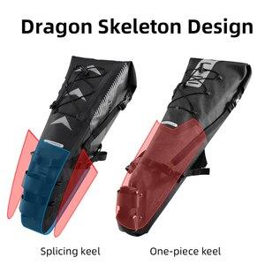 Image 5 - ROCKBROS 자전거 가방 방수 반사 10L 대용량 안장 가방 사이클링 Foldable 꼬리 후면 가방 MTB 도로 트렁크 자전거 가방