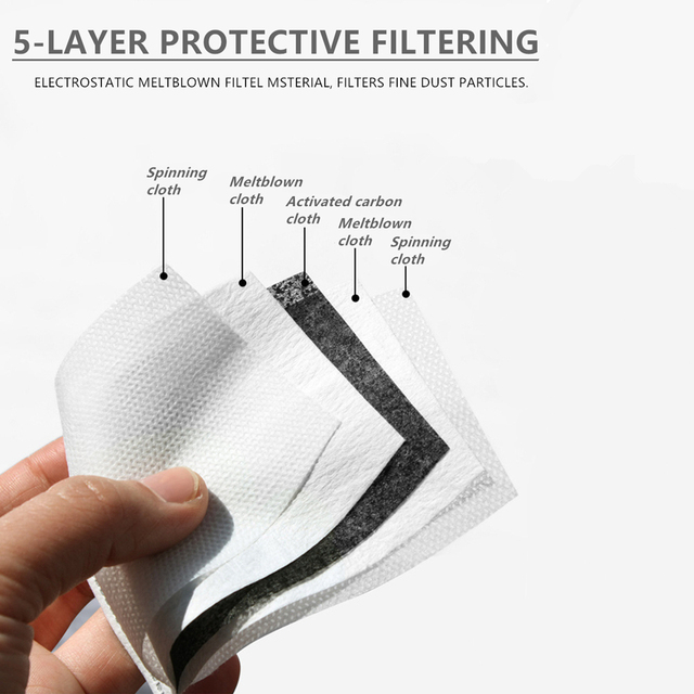 Zohra Moustache Printing Reusable Protective PM2.5 Filter mouth Mask anti dust Face mask bacteria proof Flu Mask 4