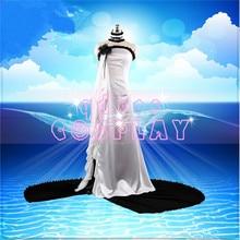 Fate Grand Order Archer Euryale Destiny three goddesses elegant White Dress Halloween party costume unisex A