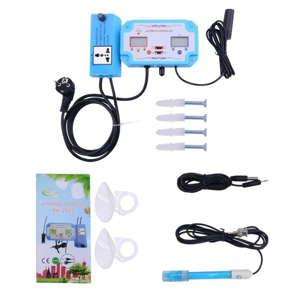 PH Meter 3 In 1 PH/EC/Temperature Meter Digital Water Quality Monitor Tester Detector For Pools Drinking Water Aquarium