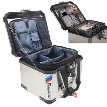 Dla BMW F800GS F850GS F700GS F750GS R1200GS R1250GS LC ADV przygoda pojemnik na bagaże wewnętrzny pojemnik Protector górna pokrywa wewnętrzne torby tanie i dobre opinie RUNNING PANTHER 10inch For BMW 20inch Obejmuje listew ozdobnych 0 6kg