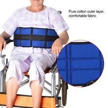 Protetor de Assento de Cadeira de Rodas Almofada de Cinto de Segurança ajustável Correias do Arnês para Pacientes Idosos Seguro Assento de Cama Cinto Apoio Cinta