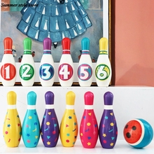 Детские уличные игрушки для детей и родителей, набор для боулинга, красочные мягкие булавки для боулинга из полиуретана, спортивные игрушки...
