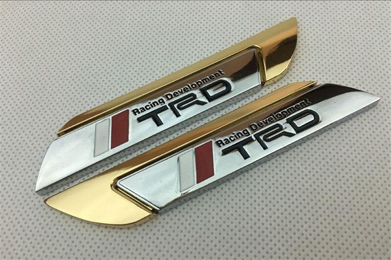 Alta Qualidade Emblema TRD Crachá Cauda Traseira