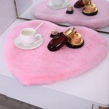 Area Rugs Carpet For Living Room Home Bath Bedroom Hairy Fluffy Anti-Skid Floor Mats Pink Love Heart Plush Soft Woolen blanket