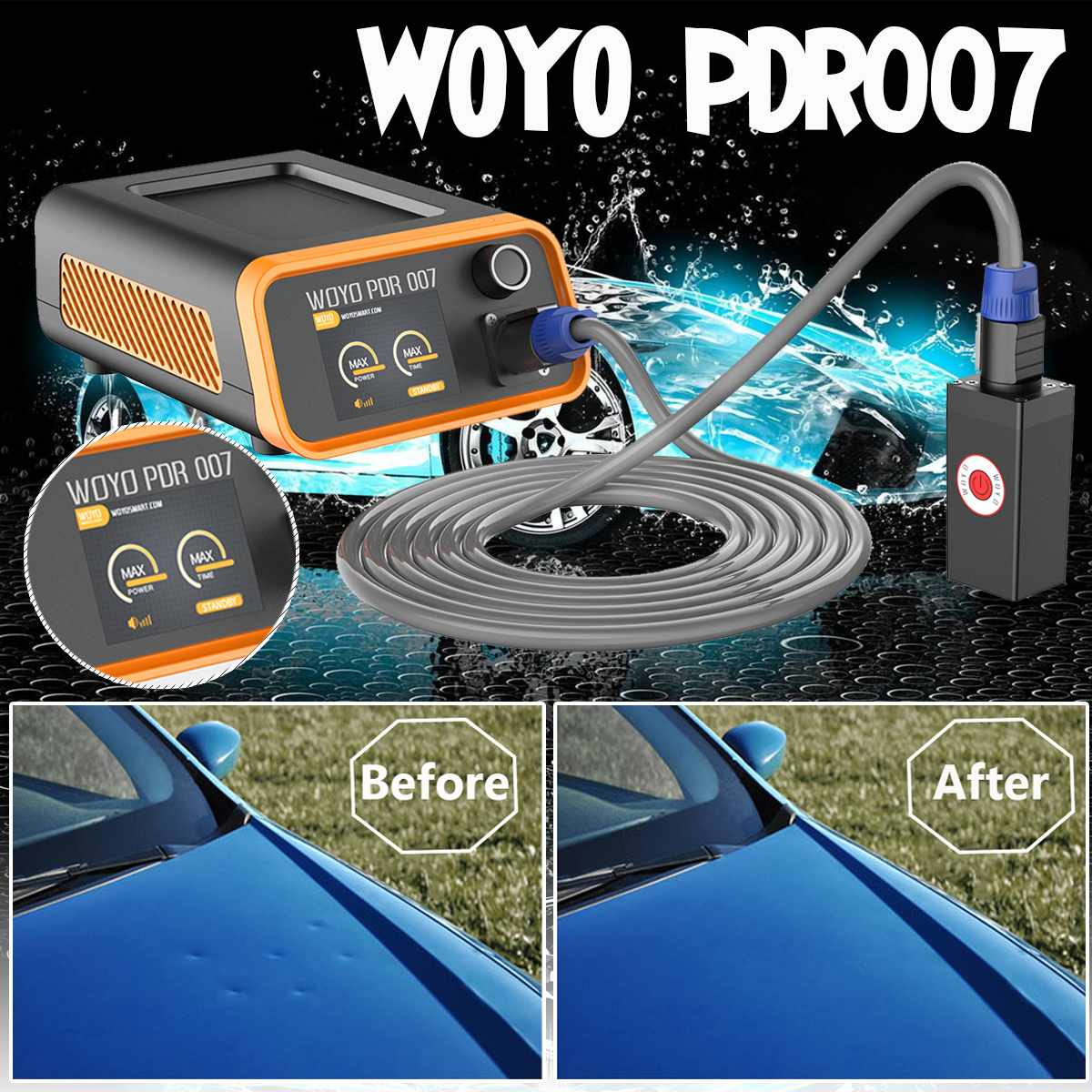 WOYO PDR-007 Car Dent Repair Remover Tool HotBox Induction Heaters 220V/110V 1000W Paintless Car Body Dents Removing Repair Tool