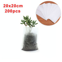 200pcs Non Woven Grow Bags Planting Nursery Seedling Plants Flowers Garden Backyard Biodegradable Growing Container|Hanging Baskets|Home & Garden -
