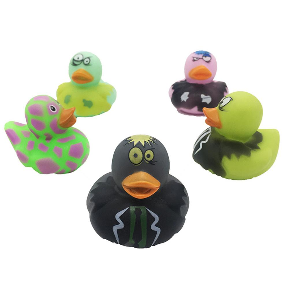 5pcs Kids Baby Bath Pool Swimming LED Light Up Colorful Floating Duck Animal Toy