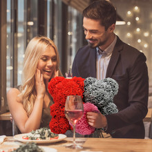 # Hot Artificial Rose Flower Teddy Unique Bear Gift for Wome