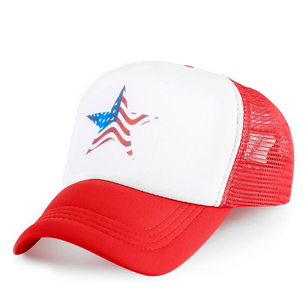 Pentagram USA Flags Baseball Cap Men Print K Pop Adjustable Casquette Hat Visor Outdoor Hip HopHats Snapback BoneWholesale