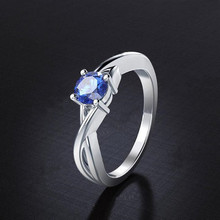 Silver 925 Jewelry Ring Claw Zircon Korean Edition Female Wedding Party Pure Popular Beautiful Size 6-9