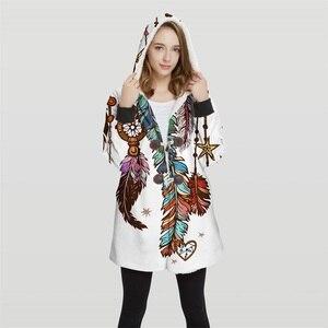 Image 4 - 2019 chaqueta Bomber de talla grande con capucha Convertible con estampado 3d para mujer, 100% Tops de poliéster, chaqueta suave para mujer, diseño al cliente Wy23