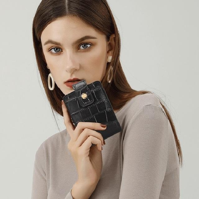 ZOOLER Genuine Leather Makeup Bag Mirror Shoulder Messenger Luxury Handbags Women Designer Ins Hot real leather clutches#TC208