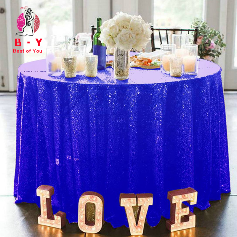 dining room 51 Bridal Satin Round Tablecloth Royal Blue wedding prom decorations outdoor birthday party decor and DJ 51-Inch