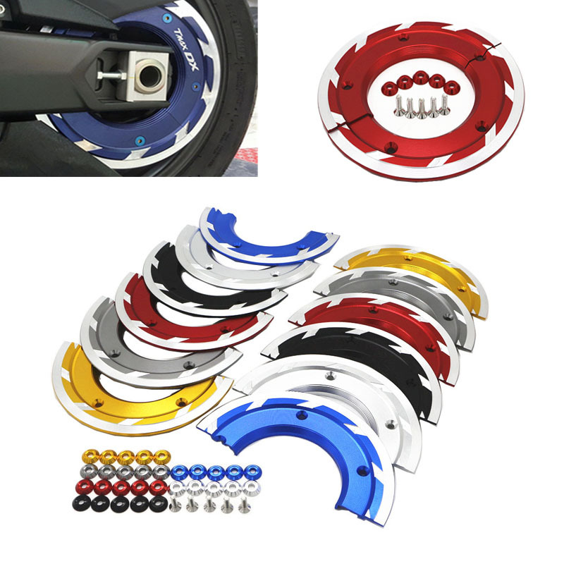 Motorcycle accessories aluminium alloy Transmission Belt Pulley Cover For YAMAHA TMAX <font><b>530</b></font> <font><b>t</b></font>-<font><b>max</b></font> <font><b>530</b></font> tmax530 SX DX 2017 2018 <font><b>2019</b></font> image