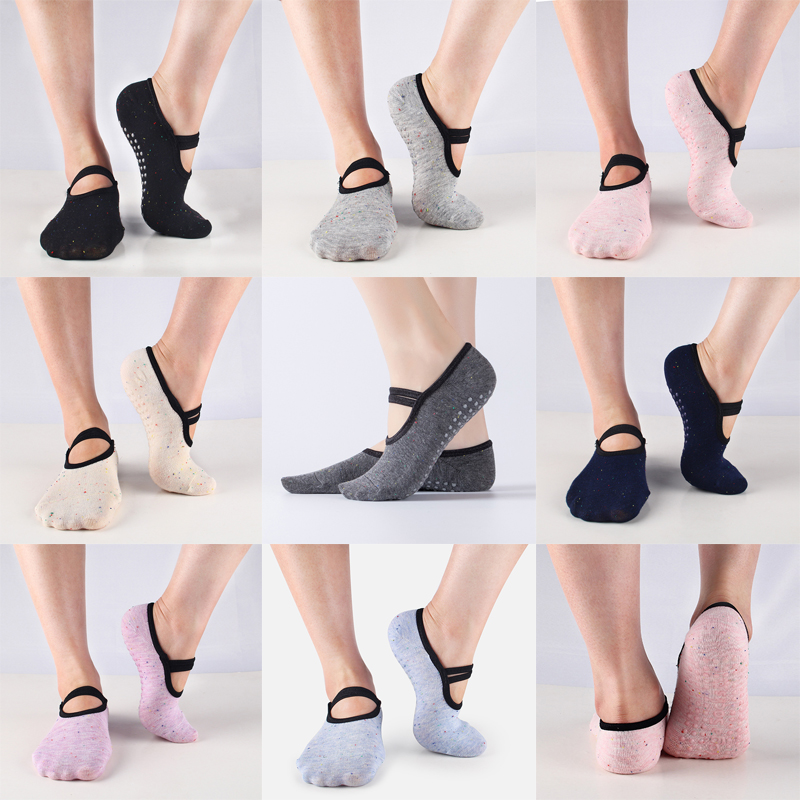 Professional Women's Cotton Dance Socks Anti-slip Grip Sport Socks Breathable Barre Dancing Yoga Socks For Pilates Home Walking