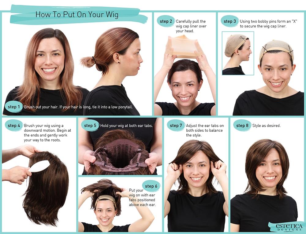 sintéticas para preto feminino parte média peruca
