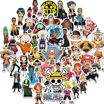 50pcs/pack Japanese Anime ONE PIECE Stickers For Notebook Motorcycle Skateboard Computer Mobile Phone Cartoon Toy Trunk Etc - discount item  26% OFF Classic Toys
