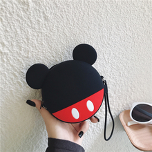 DropShip Mini Coin Purse 3D Cute Cartoon Anime Minnie Pouch Women Small Wallet Soft Silicone Money Bag Kids Kawaii Birthday Gift
