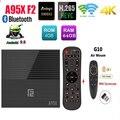 A95X F2 4K Smart TV Box Android 9,0 TV Box 4 Гб 64 Гб Amlogic S905X2 2,4G/5G Wi-Fi BT4.2 опциональный голосовой Управление пульт дистанционного управления Google TV