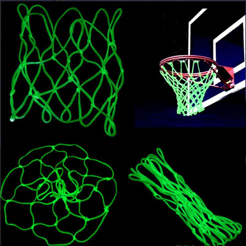 Basket Net Backboard Luminescence Basketball Field Match Yellow Nylon Basketball Net Sports Outdoors