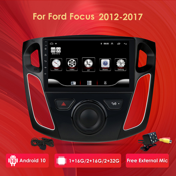 9inch Android 10 Car Stereo For 2012 2013 2014 2015 Ford Focus Stereo Support Bluetooth WIFI USB OBD 1080P DAB image