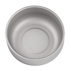 Image 3 - Lixada cuenco de titanio de doble pared para fruta, ensalada, cena, Mini taza, tazas de agua para el hogar, exterior, Camping, mochilero, Picnic, 250ml