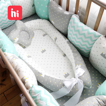 80*50cm Baby Nest Bed Portable Crib Travel Bed Infant Toddler Cotton Cradle for Newborn Baby Bed Bassinet Bumper portable bionic baby nest bed removable infant cradle cot washable newborn travel folding baby crib bumper toddler care beds