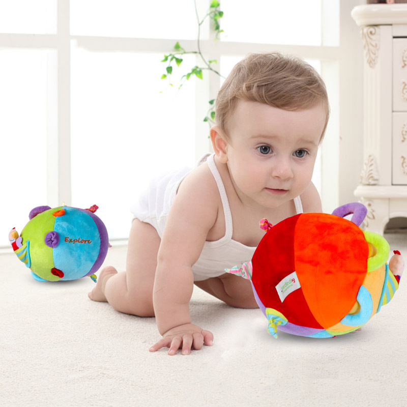 Mamamiya & Amp; Paps Baby Hand Ball CHILDREN'S Toy Rattles Tinkie BAII Infant Cloth Ball Wholesale