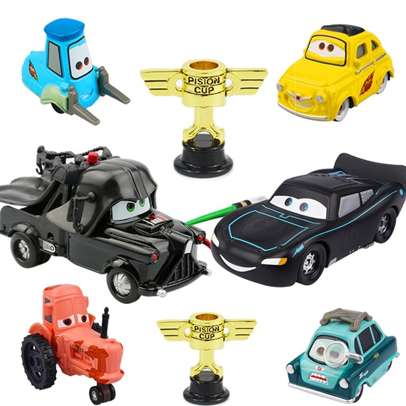 Disney Pixar Cars 3 Piston Cup Black Darth Vader Mater Star Wars Lightning McQueen 1:55 Diecast Metal Car Model Toy For Kid Boy