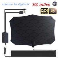 Indoor outdoor 300 Miles High Gain 4K HDTV Antenna For Digital TV With Amplifier Antennas DVB-T/DVB-T2 Grid satellite TV Aerial