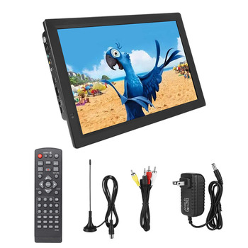 LEADSTAR 14 Inch Portable TV DVB-T2 Television 1080p HDTV Digital Car Tv TFT-LED US Plug 110-220V 1