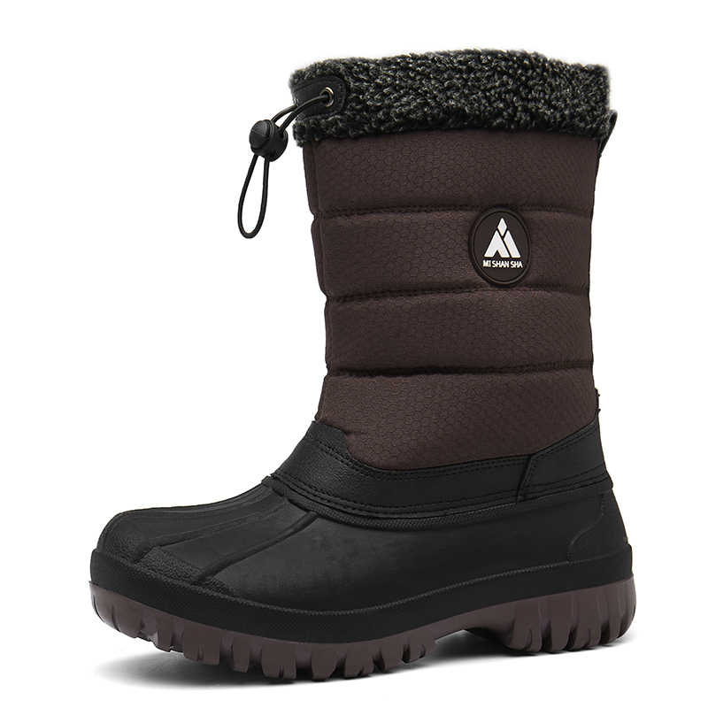 נשים מגפי חורף שלג מגפי פרווה כותנה נעלי אישה חיצוני פלטפורמת מגפי פרוותי שטוח נעלי אנטי החלקה אמצע עגל Botas Mujer
