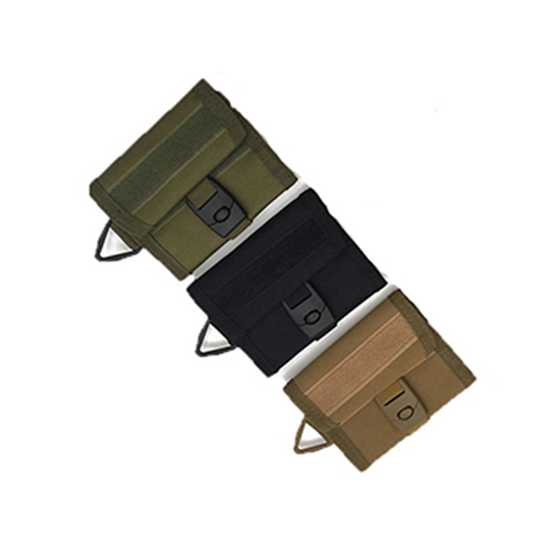 Tactical Wallet Multifunctional Purse Molle Card Pocket Key Hanging Bags