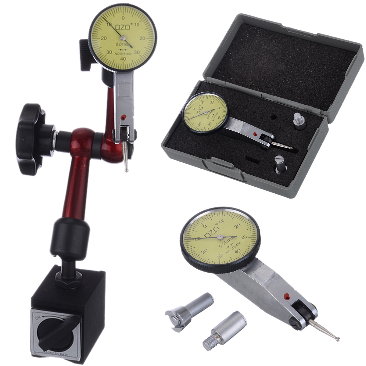 1 soporte de Base magnética Flexible + indicador de prueba de Dial de precisión de escala 0-0,8mm para herramientas de medición Sofirn SP33 potente linterna LED 26650 Cree XHP50 3000lm linterna táctica 18650 luz de Flash 6 modos con actualización de luz indicadora