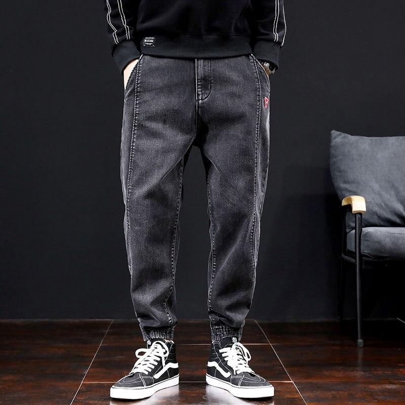 Baggy Spring Autumn Biker Jeans For Men'S Denim Streetwear Casual Jogger Hip Hop Big Sizes Straight Jeans