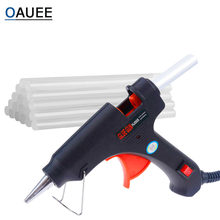 Oauee 20w quente melt pistola de cola com vara de cola 7mm * 100mm mini arma thermo temperatura calor elétrico ferramenta diy cola conjunto reparo arma