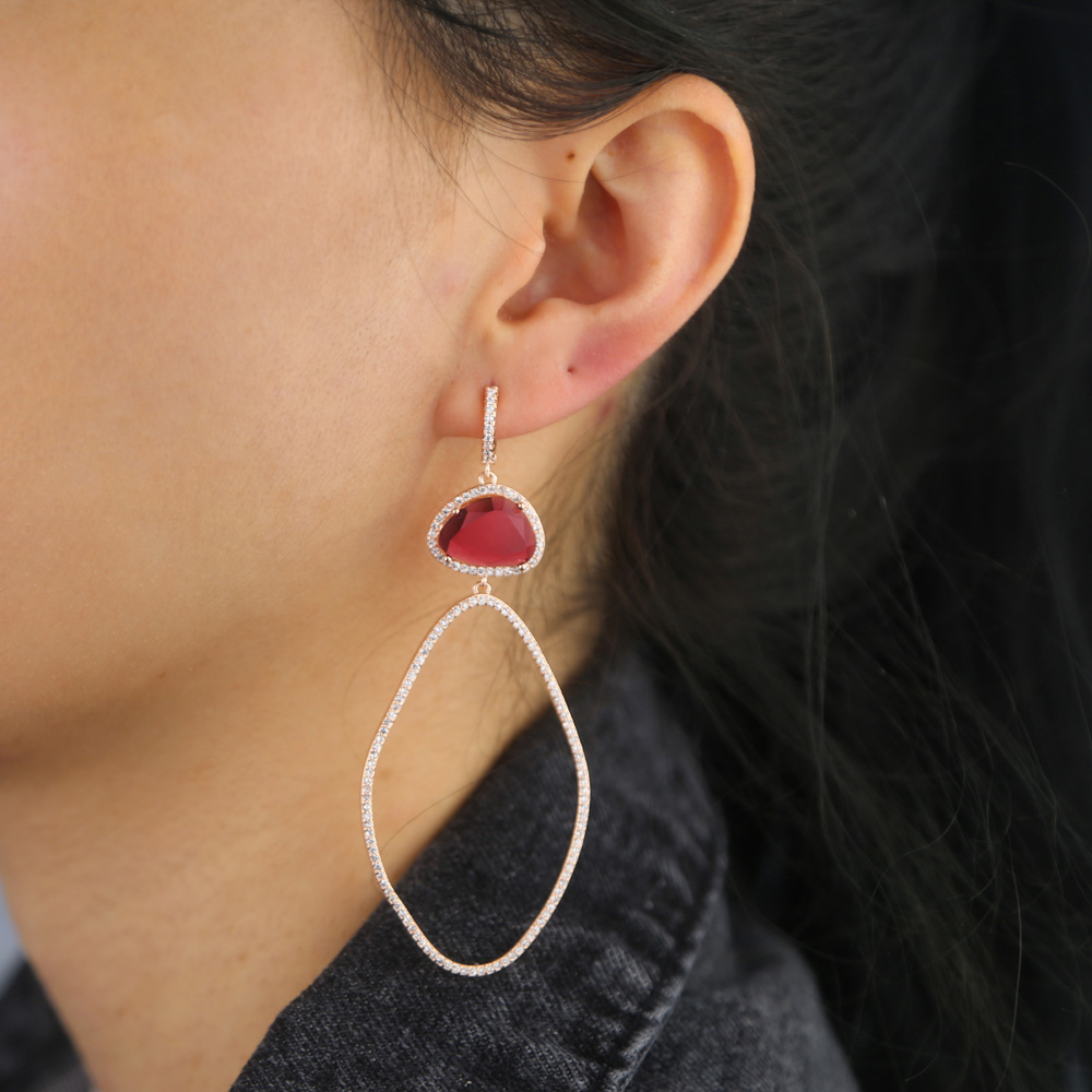 BRASS drop earring Y (9)