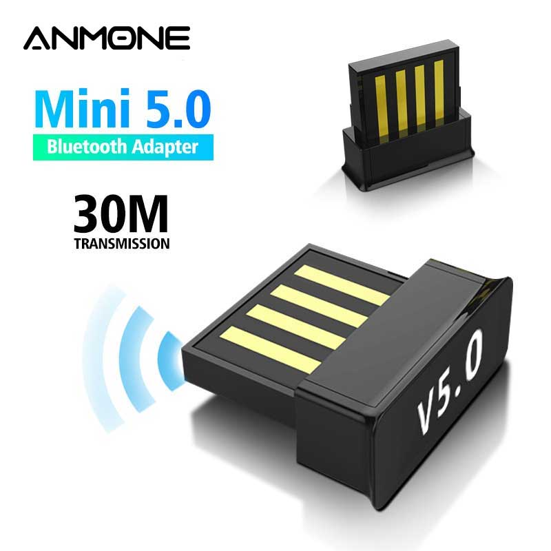 ANMONE Mini BT5.0 USB Bluetooth Wireless Adapter 5.0 Computer Audio Bluetooth Transmitter Adapter PC Dongle For TV PC Car Kit