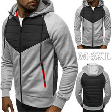 Mens Hoodies Sweatshirts 2020 New Casual Slim Zipper Hooded Sweatshirt Men Full Sleeve Patchwork Oversized Hoodie Men Cardigan new 2019 men 3d hoodies pineapple vegetable fruit men zipper hoodie washed casual men sweatshirts long sleeve pineapple hoodies