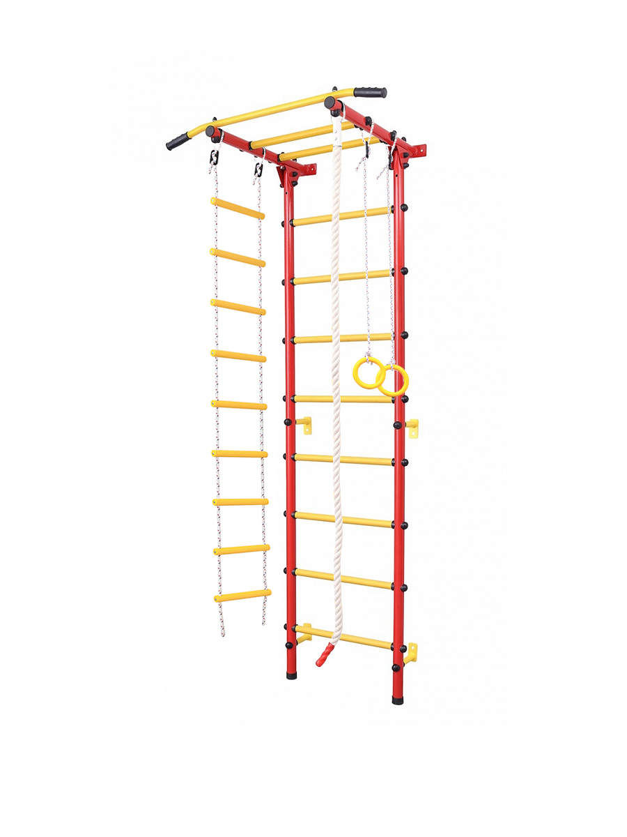Sports Complex For Children, Ladder For Children, Swedish Wall For Children Children's Square 2.0 Red